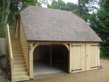Country Oak Timber Two Storey Framed Garages And Offices