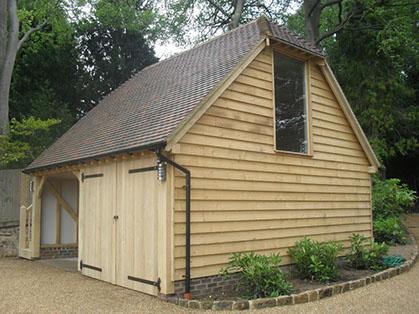 Oak Timber Framed Buildings Garage and Office Barn Construction