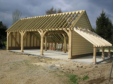Country oak timber large framed offices and buildings for Country carports